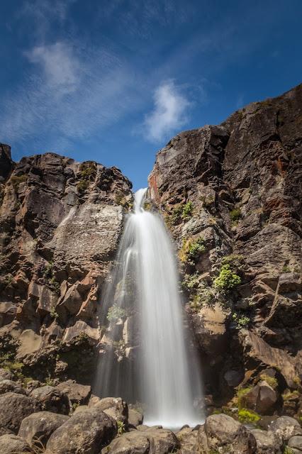 taranaki falls sunny day
