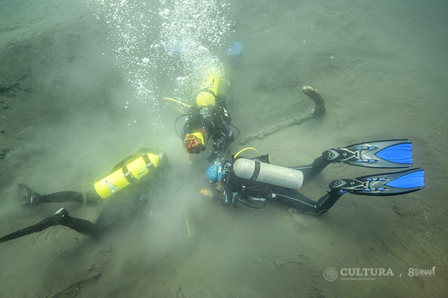 Anchor dating to Spanish conquest found off Mexico's Gulf coast