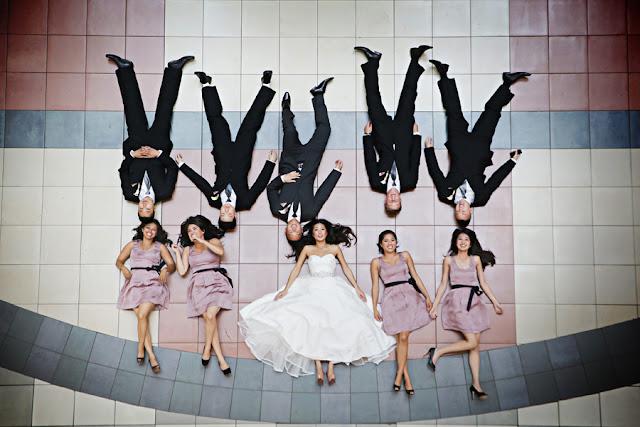 Ideias de fotos divertidas com os amigos no casamento