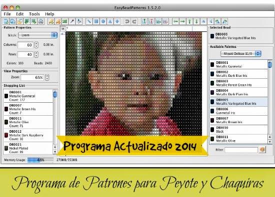 programas, software, patrones, peyote, chaquiras, bisuteria, descargas