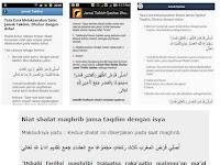 Pengertian & Tata Cara Niat Shalat Jamak dan Qashar