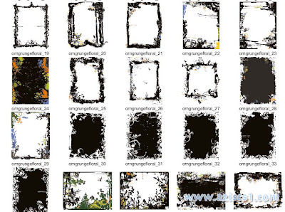 GRUNGE BACKGROUNDS AND FRAMES