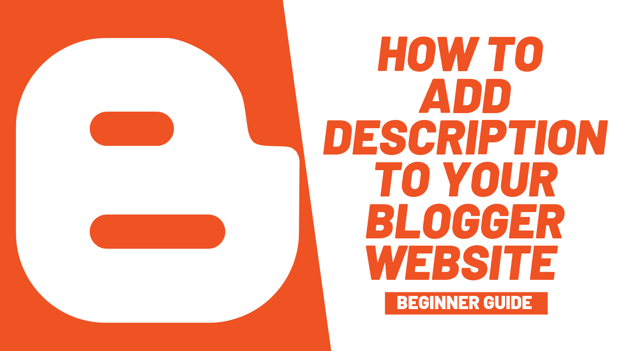 A simple and easy guide towards the way and step that re follows to add meat description in your blogger website to rank it on Google searches