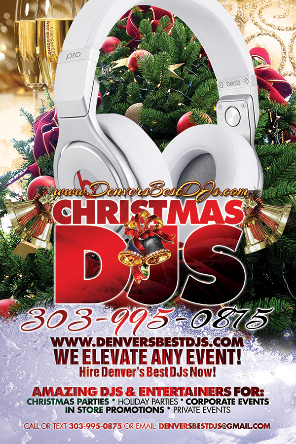 Denver's Best DJs Christmas DJs and Holiday DJs Promotional Flyer Design