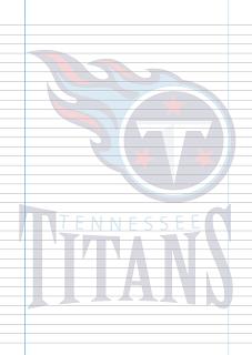 Folha Papel Pautado Tennessee Titans PDF para imprimir na folha A4