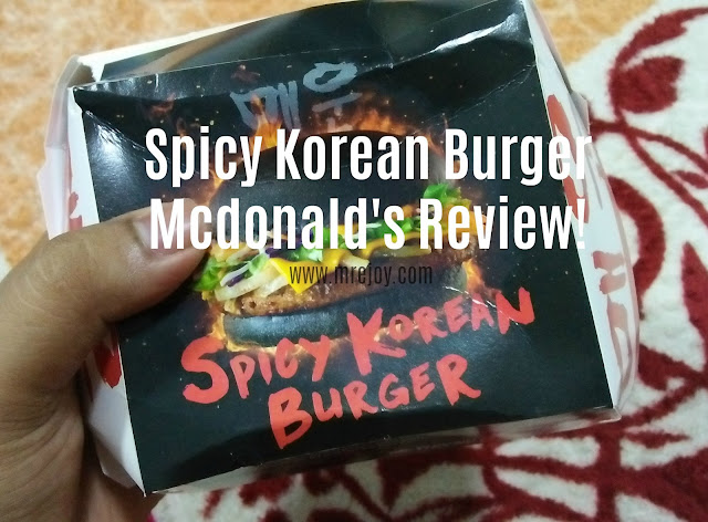Spicy Korean Burger Mcdonald's review