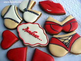 Имбирное печенье на 14 февраля.