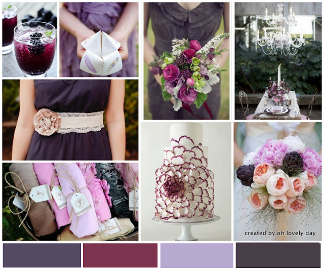Eggplant And Red And Purple Wedding Ideas: {Inspiration Board} Eggplant Elegance