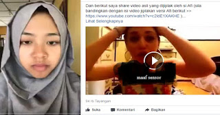 Terungkap! Video Curhat Afi Nihaya Terbaru Hasil Jiplakan, Begini Kata Netizen