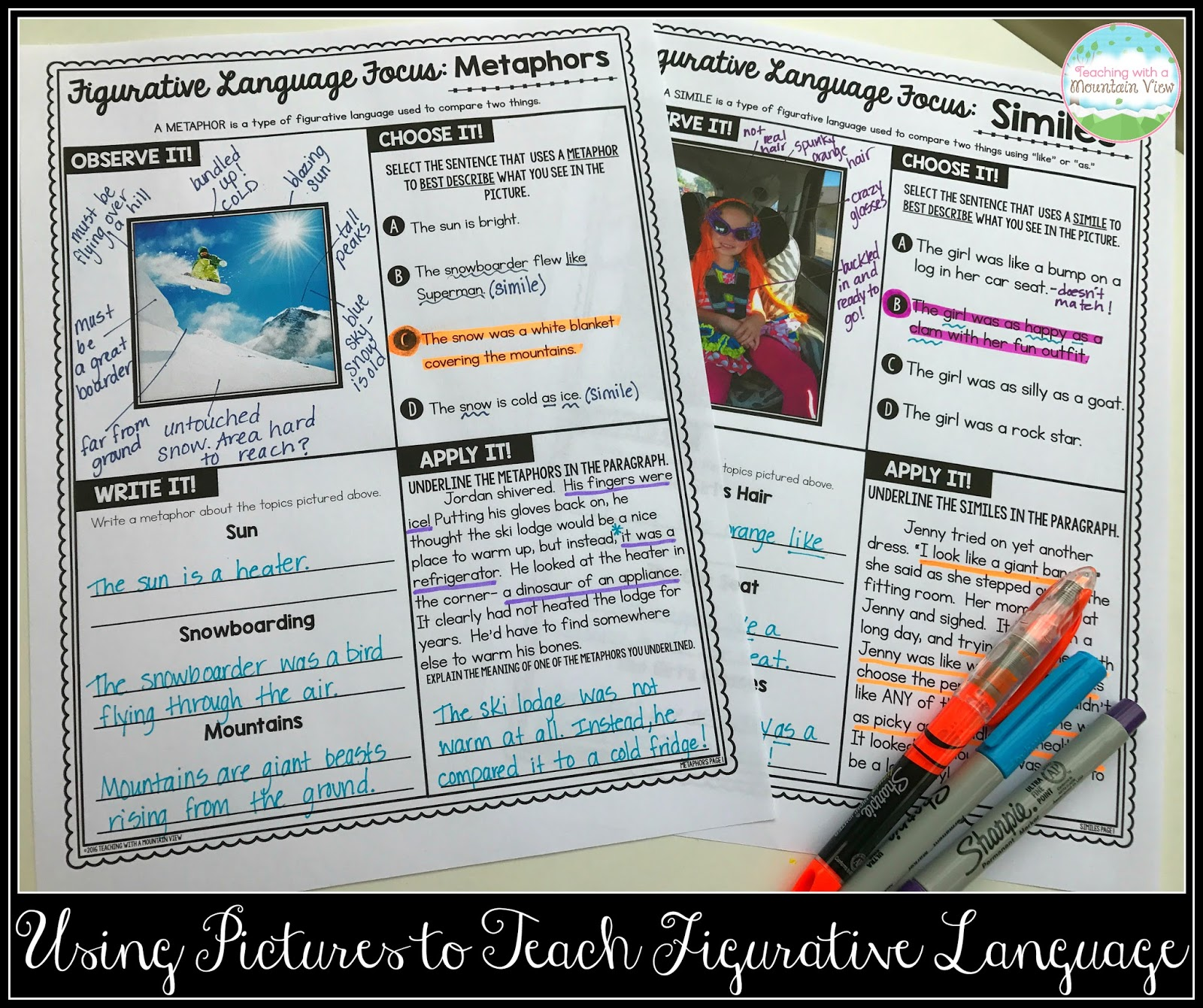 Teaching With A Mountain View Figurative Language Review