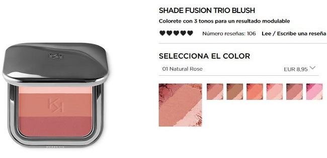 Shade Fusion Trio Blush - Productos más vendidos de Kiko