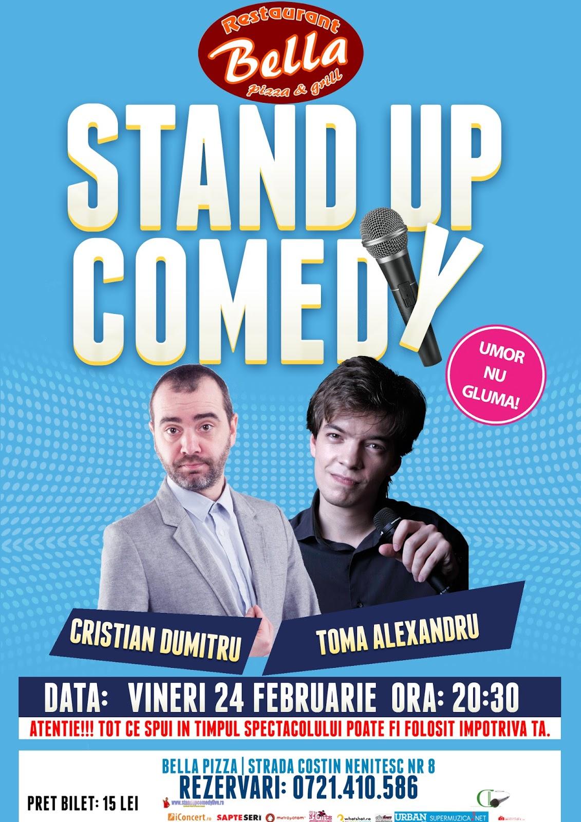 Stand-Up Comedy Vineri 24 Februarie Bucuresti