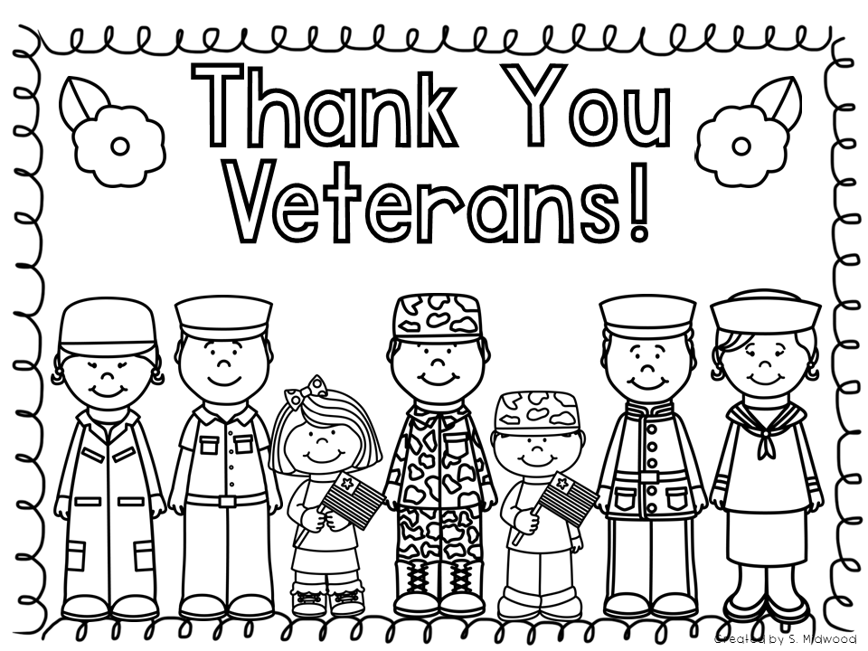 Thank A Veteran Coloring Sheet Coloring Pages