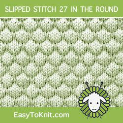 Bubble Stitch #Knittingintheround