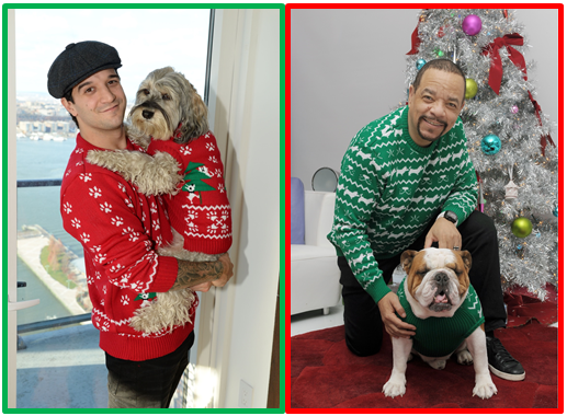 Mark Ballas and I T with their best fur-iends