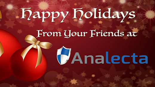 Happy holidays from friends at Analecta banner
