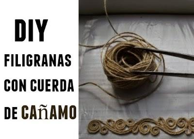 Cómo hacer Filigranas de Cuerda de Cáñamo