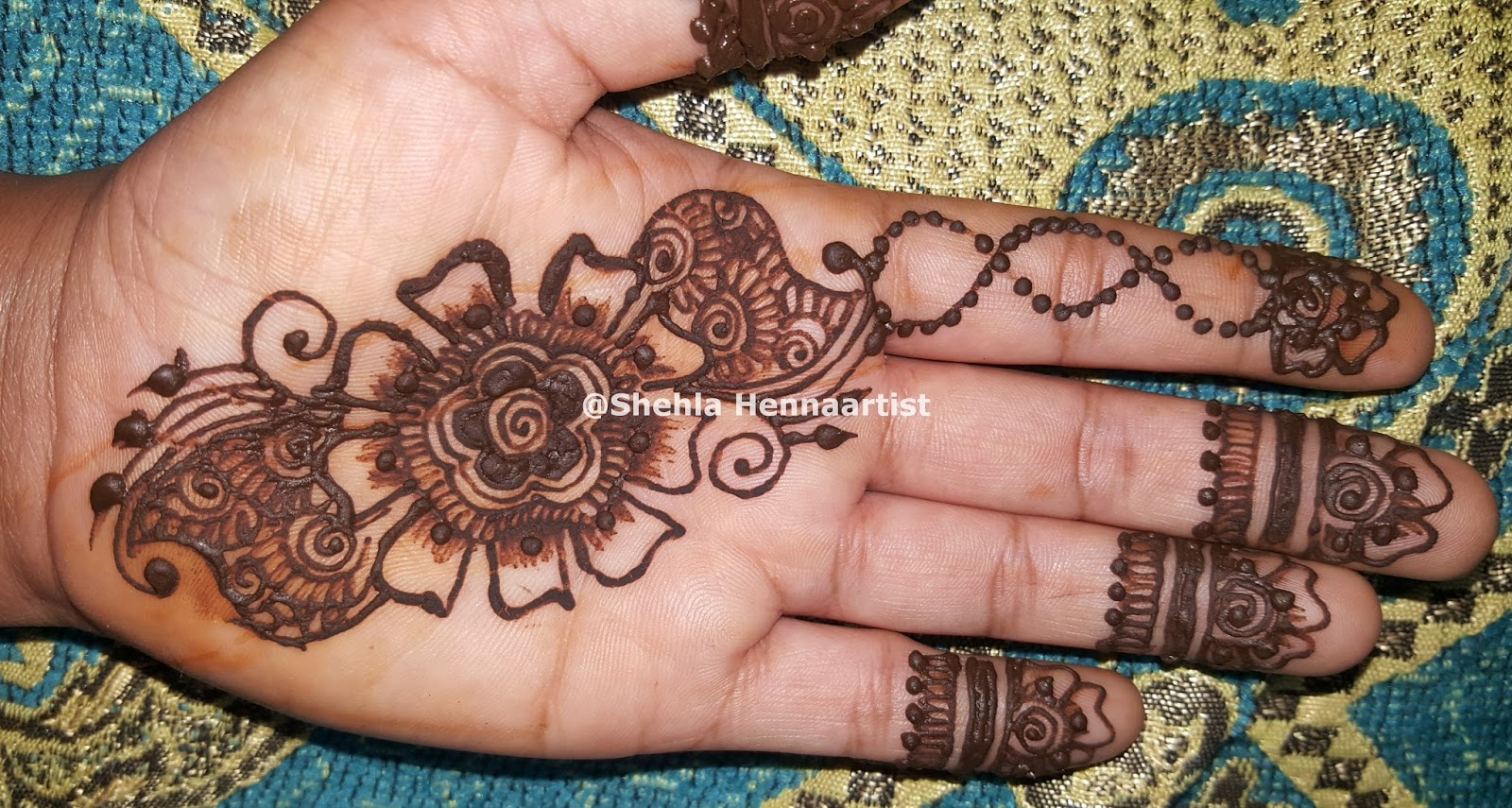Shehla Hennaartist Diy Easy And Beautiful Arabic Henna Mehndi Design