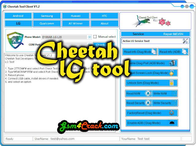Cheetah LG Tool V1.2 Latest Setup Free Download
