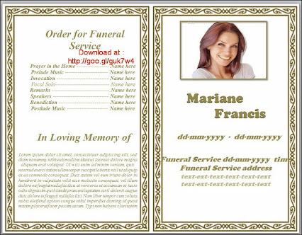 Funeral Pamphlet Template Free free funeral program templates – Sample Funeral Programs