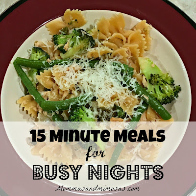 Easy 15 Minute Meals, Meal Planning for Busy Nights, Uses what is in your pantry