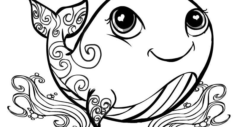 Creative Cuties: Whale Coloring page