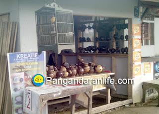 Foto tempat usaha kerjainan dari batok kelapa