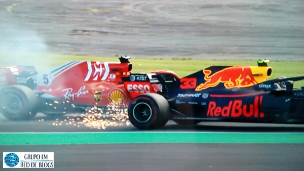 INCIDENTE ENTRE VETTEL Y VERSTAPPEN
