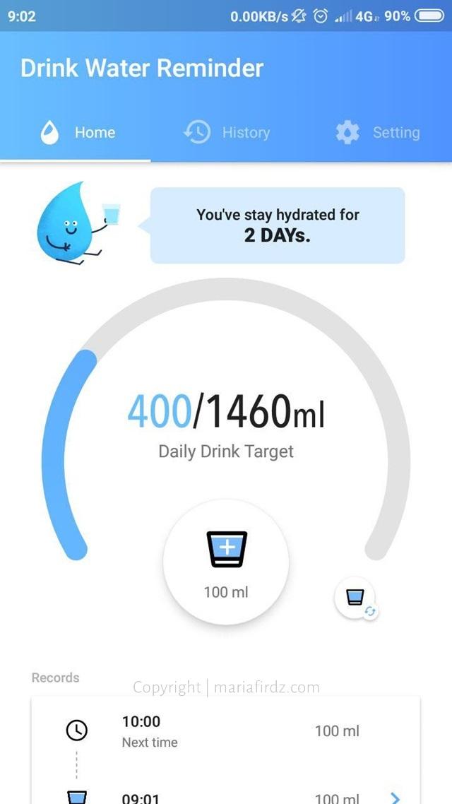 cara nak minum air banyak