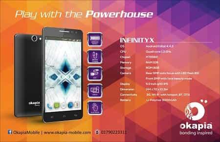 Okapia Infinity X Smartphone