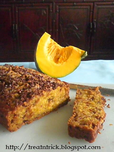 Chocolate Sprinkle Pumpkin Bread Recipe  @ http://treatntrick.blogspot.com