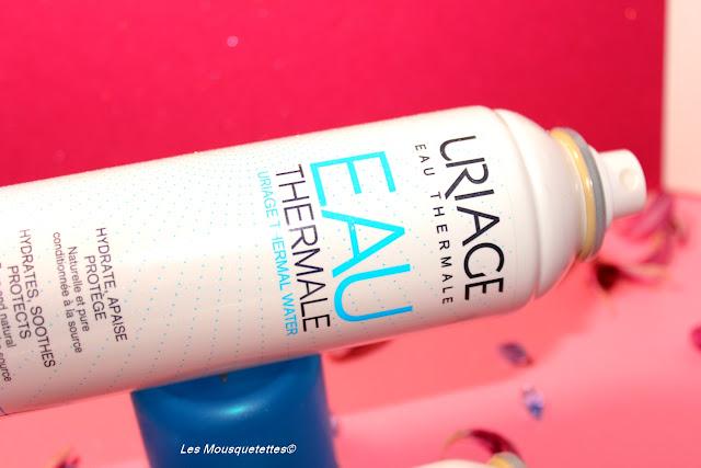 Brume visage et corps à l'eau thermale d'Uriage - Blog beauté Les Mousquetettes©