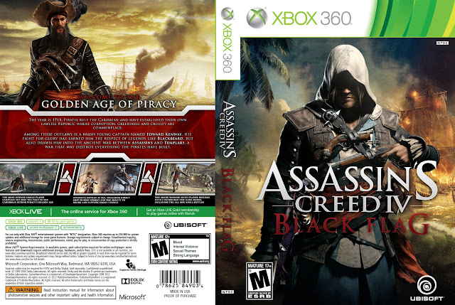 Capa xBox360 Assassin's Creed IV Black Flag