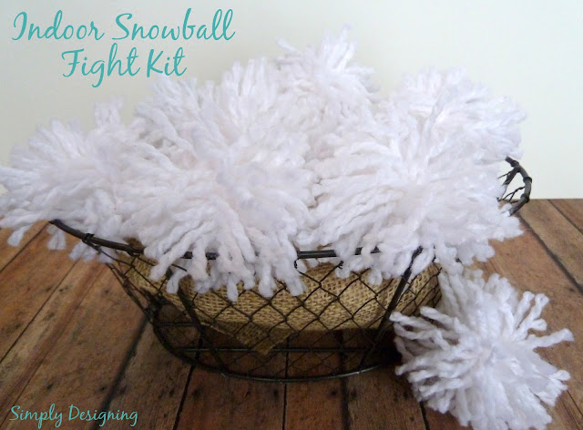 Indoor Snow Ball Kit 01a Simply Link Party + Family Rules Art GIVEAWAY 14