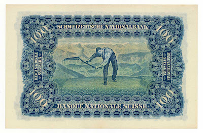 Switzerland 100 Franken note