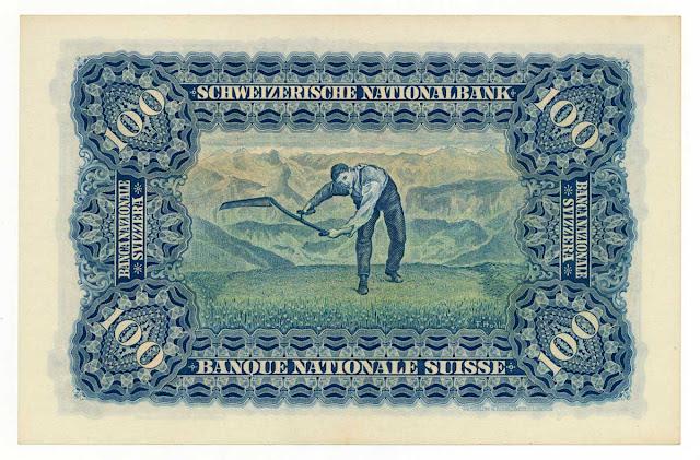 Switzerland 100 Franken note