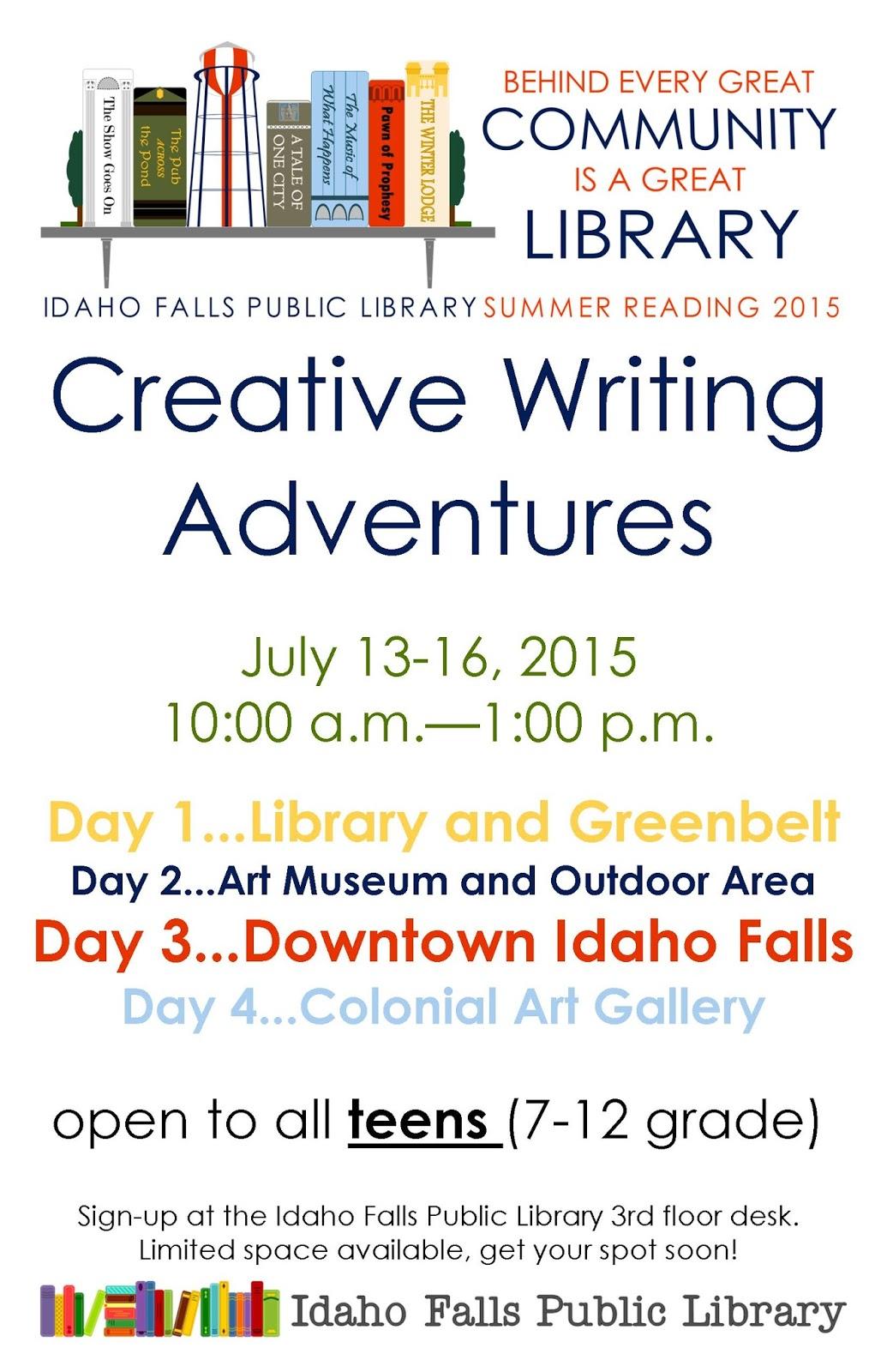 Teen Blog Creative Writing Workshop For Teens