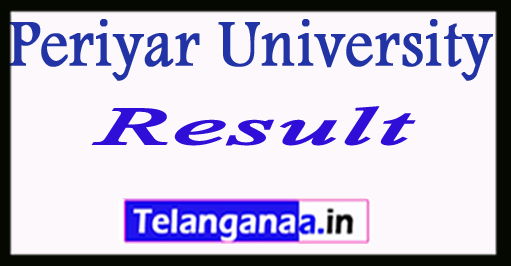 Periyar University Result UG PG Exam Results