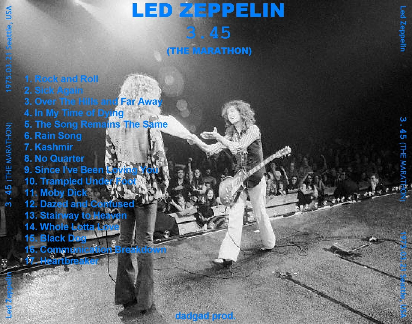 PLUMDUSTY'S PAGE: Led Zeppelin 1975-03-21 Seattle Center ...