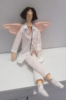anielica lekarka tilda uszyta na zamówienie - Krysia to uszyła
