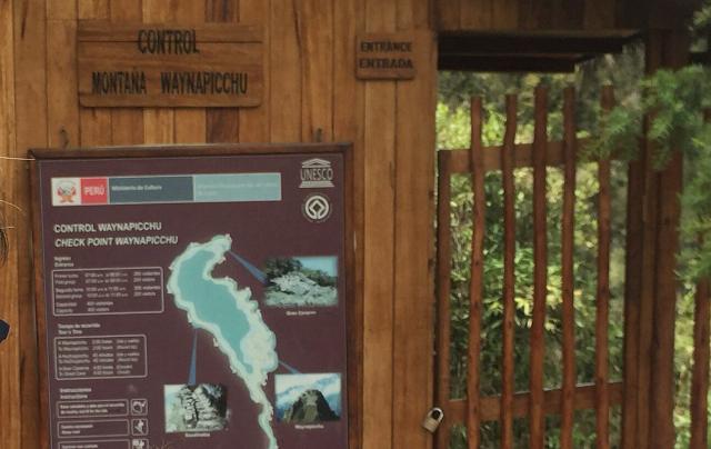 Entrada a Huayna Picchu