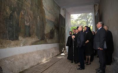 Vladimir Putin in Konevsky Monastery.