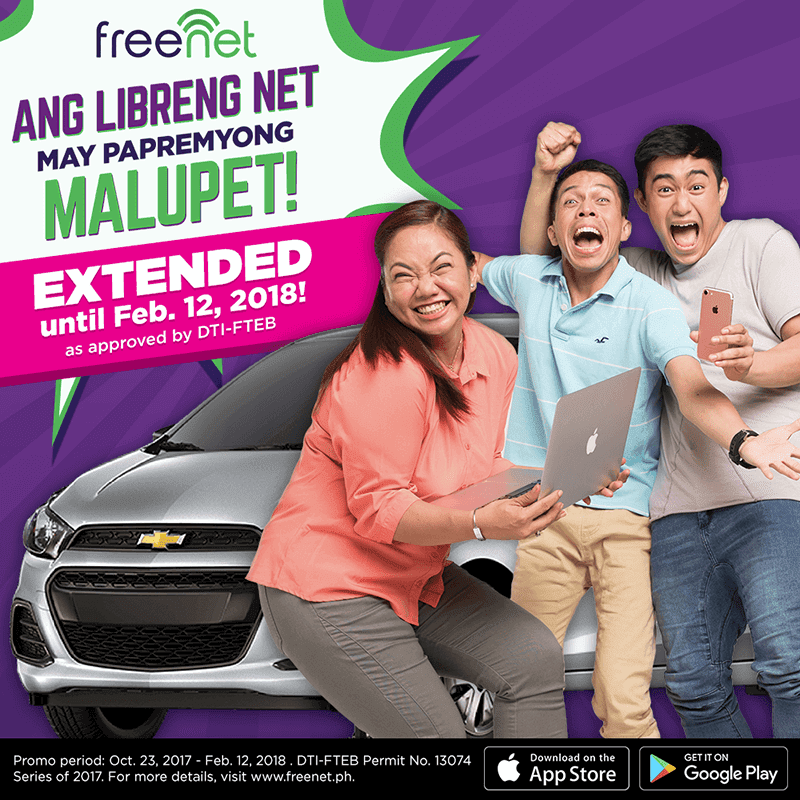 "Freenet extends ""Papremyong Malupet"" promo until Feb 12"