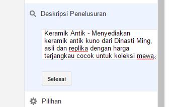 Cara buat meta tag description pada blogspot - SEO Blog
