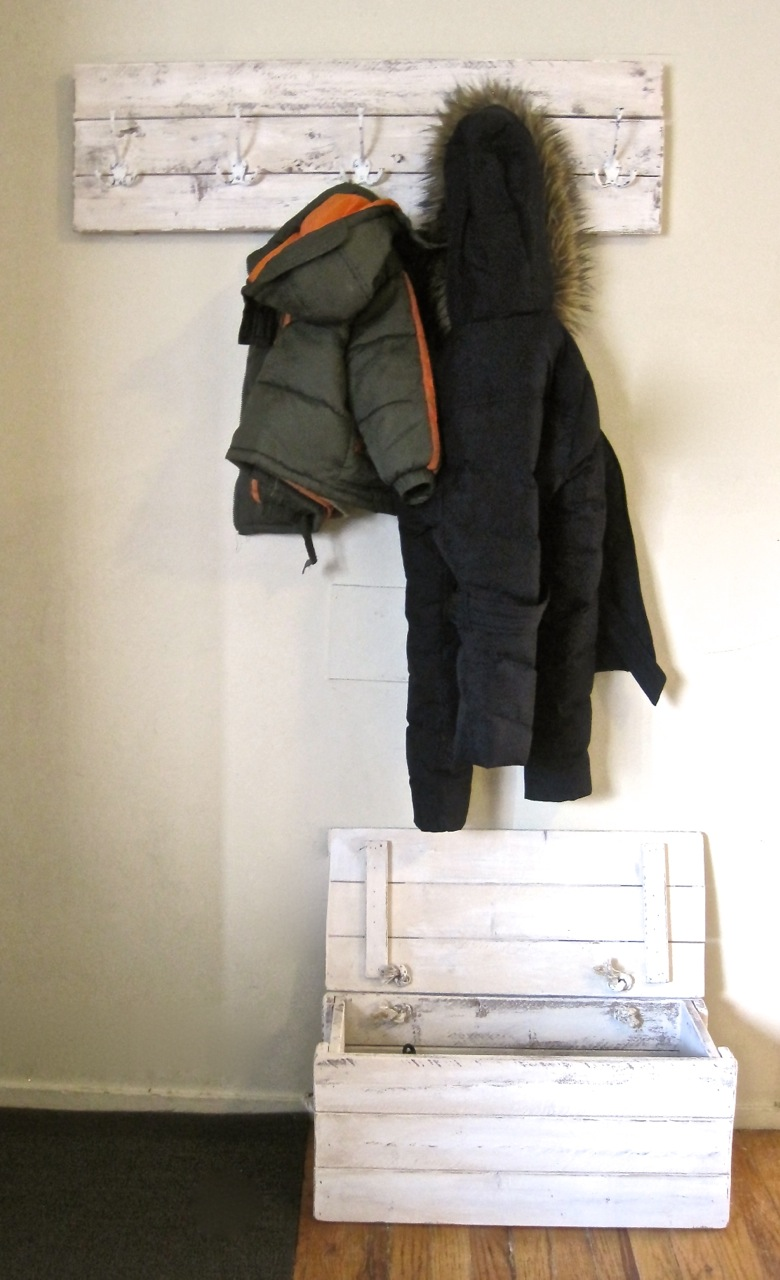 Coat Rack and Boot Box - Make Your Own! | The Project Lady