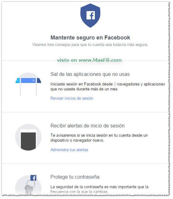 Mantente seguro en Facebook - MasFB