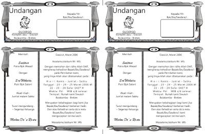 download contoh desain undangan pernikahan sederhana 2016
