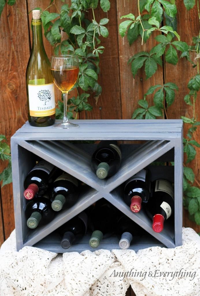 A Wood Crate Wine Rack Nice