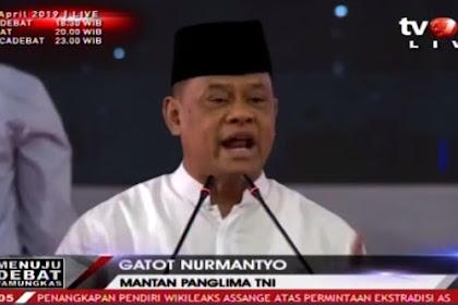 Beri Kejutan di Akhir Kampanye, Gatot Nurmantyo Dukung Prabowo-Sandi