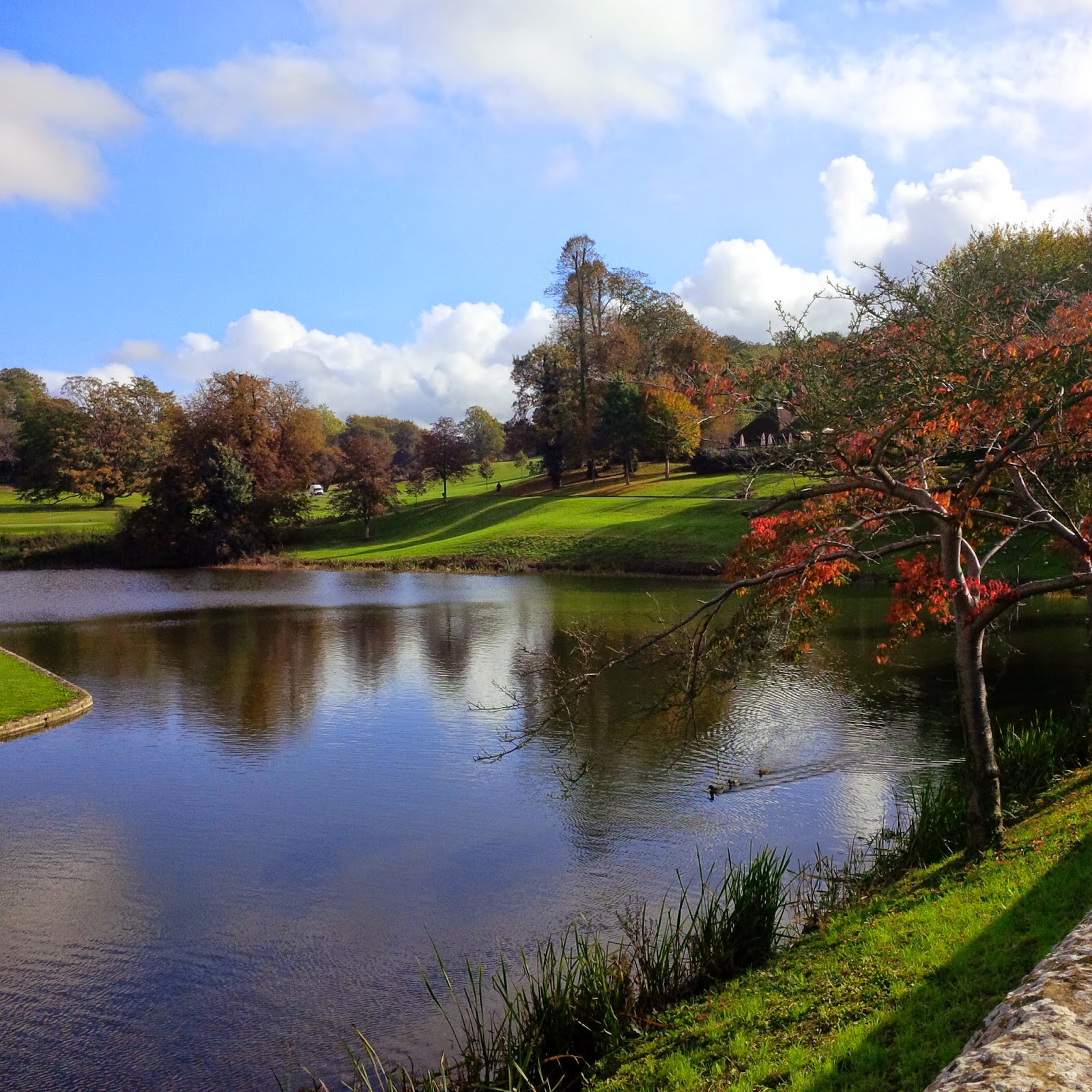 The grounds of Leeds Castle in their autumnal best